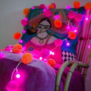 Festival Pom Pom Fairy Light Chain 5