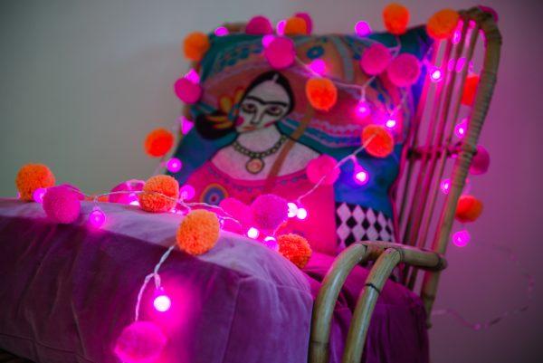 Festival Pom Pom Fairy Light Chain 2