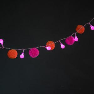 Festival Pom Pom Fairy Light Chain 6