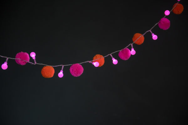 Festival Pom Pom Fairy Light Chain 2