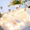 PomPom Galore White Pom pom fairy Lights