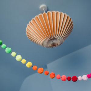 Rainbow Pom Pom Garland 3