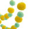 Yellow and Mint Pom Pom Garland 6