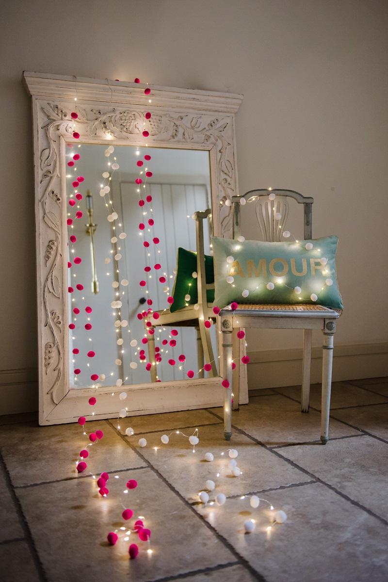 pom pom white fairy lights