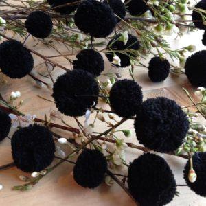 Black Pom Pom Garland 4