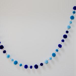 Blue Combo Pom Pom Garland 5