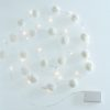 White Pom Pom Fairy Lights 4