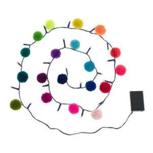 Rainbow Pom Pom Light Chain 4
