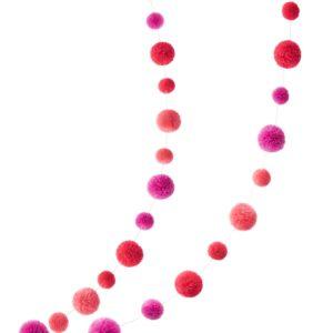 Flamingo Pinks Pom Pom Garland 3