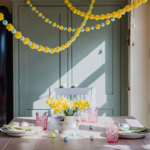 Yellow and Mint Pom Pom Garland 6