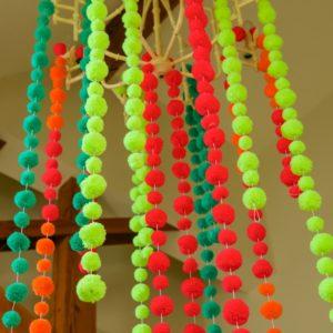 Neon Lime Pom Pom Garland 3
