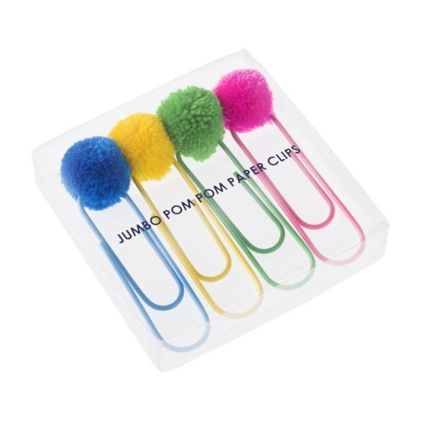 jumbo pom pom paper clips by pompom galore