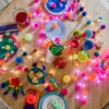 Festival Pom Pom Fairy Light Chain 8