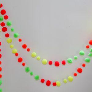 Neon Pom Pom Garland 4