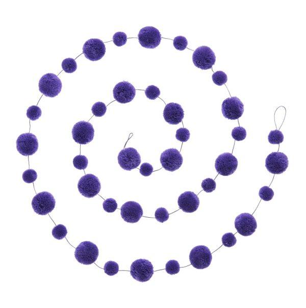 Lilac 210cm wool pom pom garland