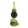 Pom Tassel Key Ring Moss Greens