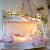 Rainbow Pom Pom Fairy Light Chain 3