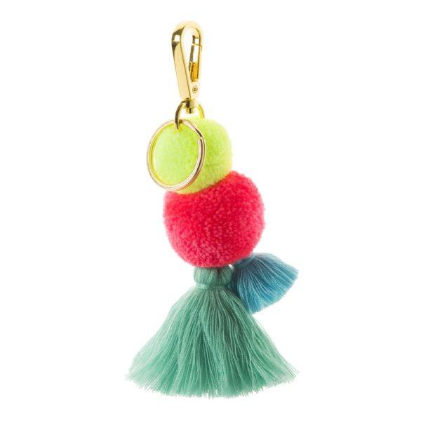 Blush Pom Tassel Key Ring