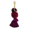 Cassis pom pom and tassel key ring clip