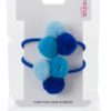 Blue Trio Hair Bob PomPom Galore