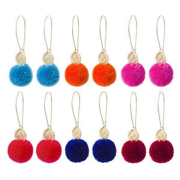 Chloe pom pom earrings