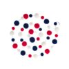 Red White and Blue Pom Pom Garland