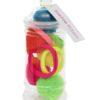 Neon Pom Pom hair Bobble Tub with 5 neon contrasting soft elastics