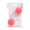 New blush double hair bobble