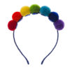 Rainbow Pom pom Alice Band