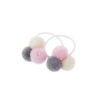 Trio mini pom pom pastel hair bobble