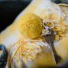 Yellow 7cm Pom Pom Keyring PomPom Galore