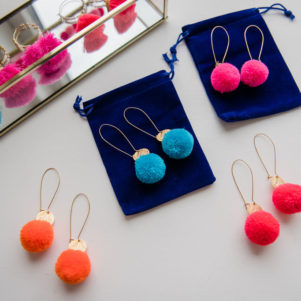 Chloe pom pom earrings