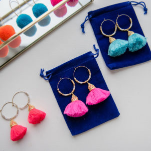 Ariadne Tassel Hoop Earrings