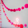 Flamingo Pinks Pom Pom Garland