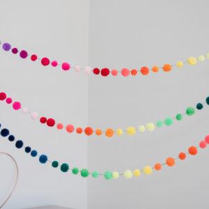 Rainbow Pom Pom Garlands