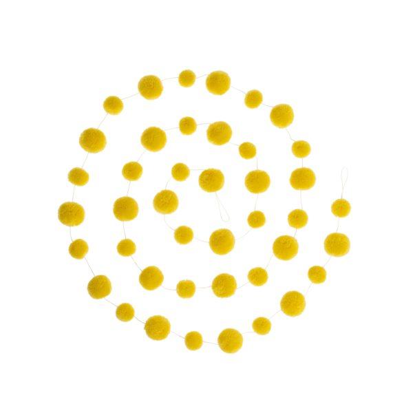 PomPom Galore Yellow Pom Pom Garland