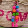 small pom pom and tassel bag swag
