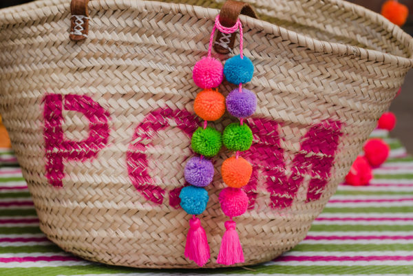 small pom pom and tassel bag swag