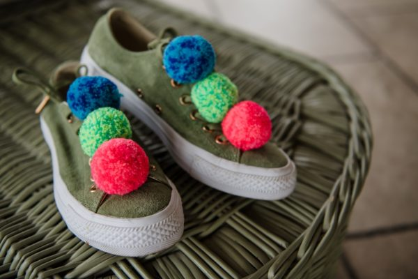pom pom clips 4cm pom poms in speckle bright colours