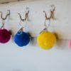 pom pom 7cm key rings by PomPom Galore