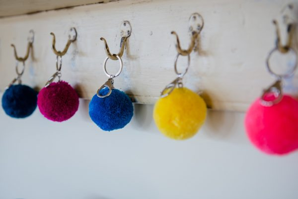 pom pom 7cm key rings by PomPom Galore