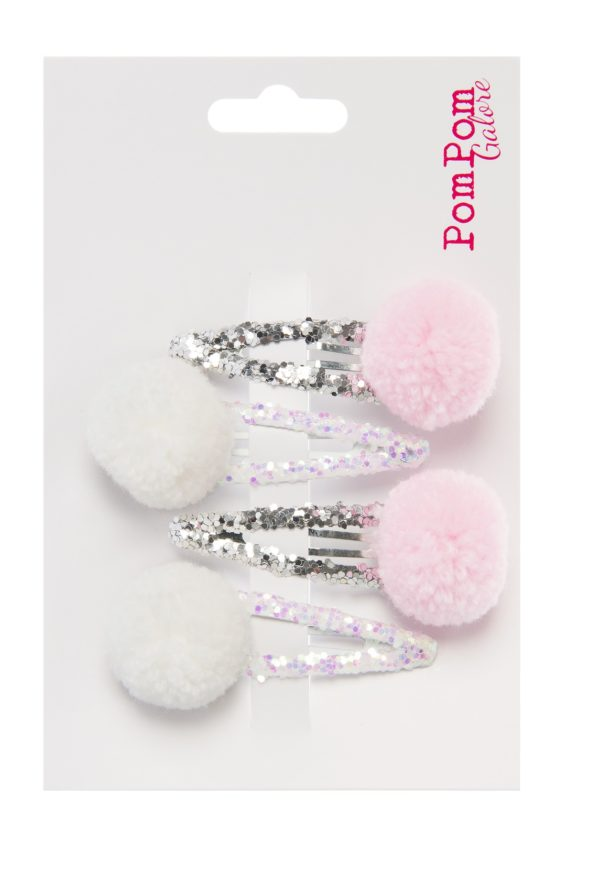 Pom POm pastel glitter slide