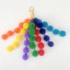 Rainbow pom pom clip