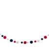 Red White and Blue Garland length low