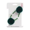 Green double hair bobble