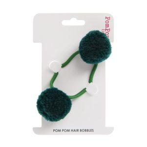 Green double hair bobble