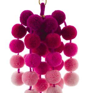 pink pom pom small ombre clip