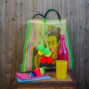 Neon Fluro Pom Pom Swag