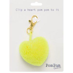 Pom Pom Heart Clip 4