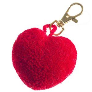 Pom Pom Heart Clip 3